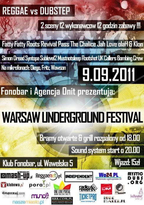Warsaw Underground Festiwal - Reggae vs Dubstep -